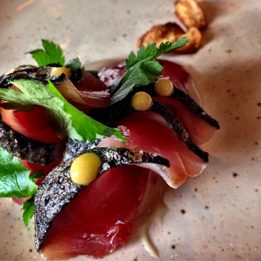 Food & Wine: Philip Speer's katsuo, karashi & burdock