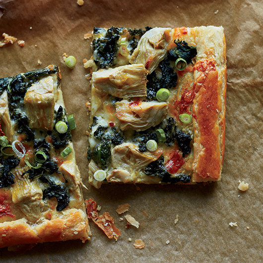 Food & Wine: Spinach-and-Artichoke Galette