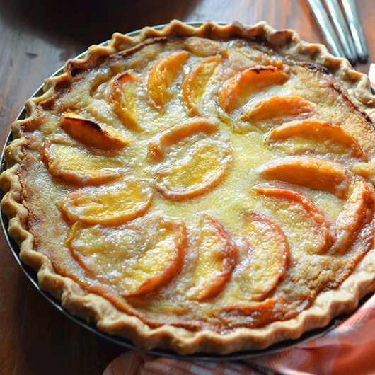 Food & Wine: Sour Cream Peach Pie