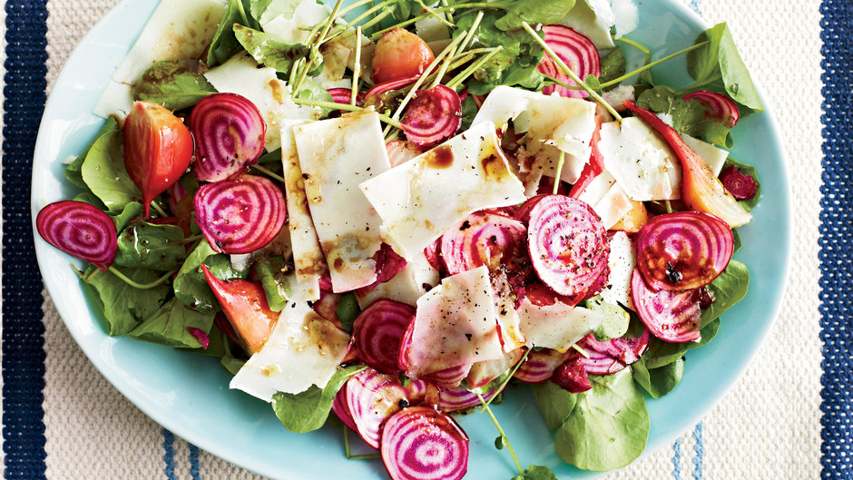 Beet Salad with Watercress and Fresh Pecorino