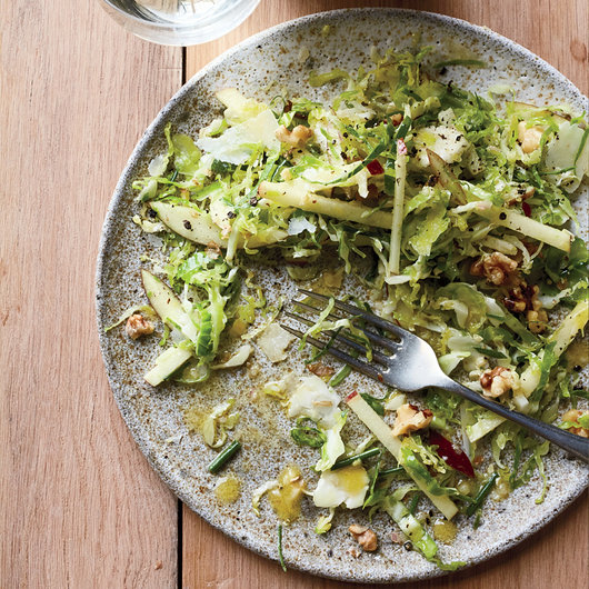Brussels Sprout Slaw with Ginger Gold Apple