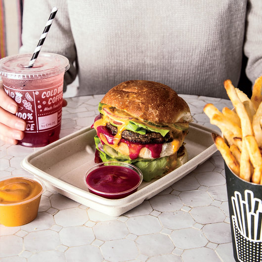 Food & Wine: Veggie burgers with tangy-sweet Thousand Island dressing