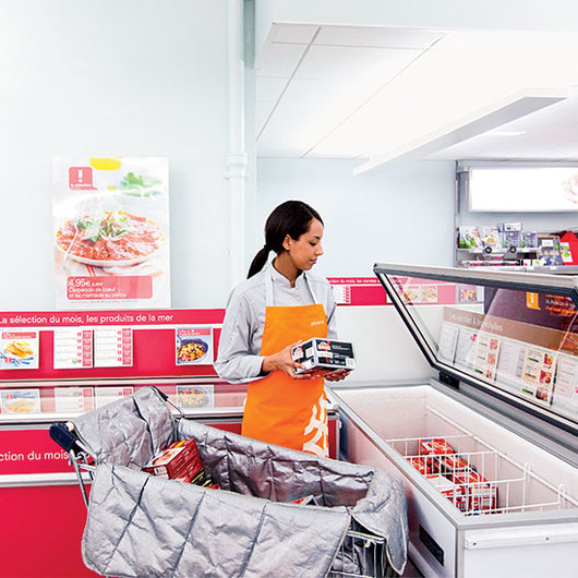 Food & Wine: Browsing the frozen foods aisle.