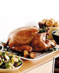 Food & Wine: Herb-Roasted Turkey with Maple Gravy