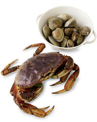 Food & Wine: Dungeness crabs and farmed shellfish are two of the most sustainable types of seafood (wildedibles.com).