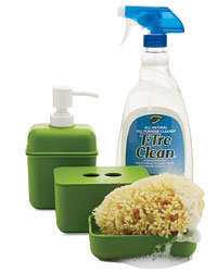 Food & Wine: T-TreClean's ammonia-free cleaner uses natural tea tree oil ($15 for 2 bottles; orangemate.com). EcoGen's soap and sponge holders are made of compostable plant starches, not petroleum-based plastic (from $8; thecontainerstore.com).