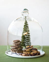 Food & Wine: Hazelnut Sandwich Cookies and Sugar-Crusted Chocolate Cookies.