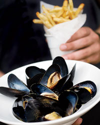 Food & Wine: The mussels at Whisknladle are ultralocal.