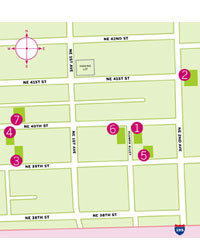 Food & Wine: A map of Miami's Design District.