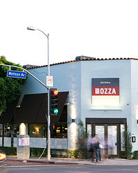 Food & Wine: Exterior of Osteria Mozza in  Los Angeles.