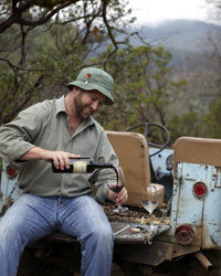 Food & Wine: Trent Ghiringhelli of Heibel Ranch gives vineyard tours in his 1963 military Jeep.