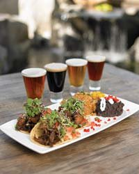 "Food & Wine: Duck Tacos and a flight of beer from San Diego's ""extreme"" Stone Brewing."