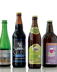 Food & Wine: Cantillon Kriek, Stone Smoked Porter, Schneider & Sohn Edel-Weiss and Birrificio Italiano Fleurette. Photo © Wendell T. Webber.