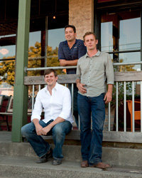 Food & Wine: Left to right: Anthill Winery's Webster Marquez, David Low and Anthony Filiberti. Photo courtesy of www.jfdsf.com.