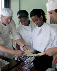 Food & Wine: CulinaryCorps chefs give New Orleans teens a pasta lesson.