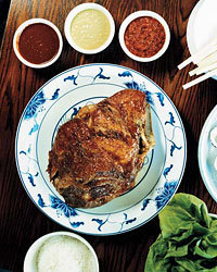 Food & Wine: David Chang' slow-roasted pork butt at Momofuku Ssäm Bar.