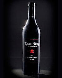 Food & Wine: 2007 Robert Foley Petite Sirah ($60). Photo courtesy of Robert Foley Vineyards.