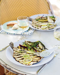 Food & Wine: Grilled Trout with Lemon-Caper Mayonnaise
