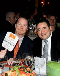 Food & Wine: Mario Batali with Food Bank for New York City.