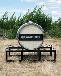 Food & Wine: Husband-and-wife team Greg and Pam Harrington sold their New York City apartment to finance their winery in Washington state. Photo courtesy of Gramercy Cellars.