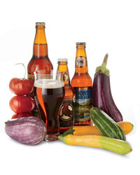 Food & Wine: Beer can be terrific with vegetable dishes. Photo © Sabra Krock.