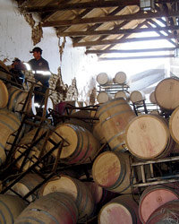 Food & Wine: earthquake in Chile.