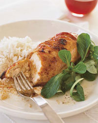 Food & Wine: Honey-and-Spice-Glazed Chicken