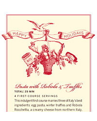 Food & Wine: Printable Gift Tags and Recipe Cards
