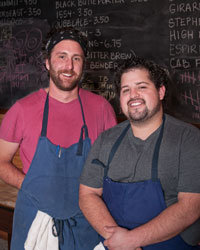 Food & Wine: Mike Brown (right)
