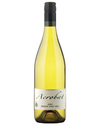 Food & Wine: 2009 Acrobat Pinot Gris ($12). Photo courtesy of King Estate.