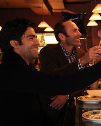 Food & Wine: The Hungry Crowd: Adrian Grenier and Peter Glatzer