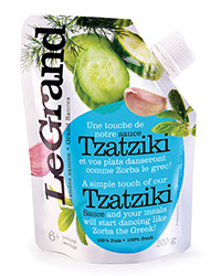 Food & Wine: Delicious Tzatziki in a Pouch