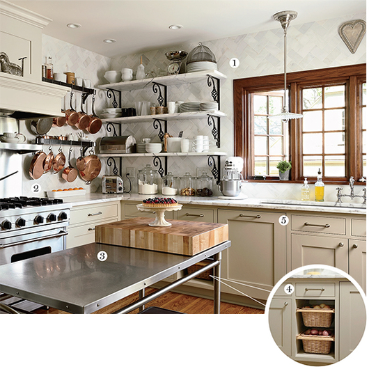 Food & Wine: A blogger's bistro-style kitchen.