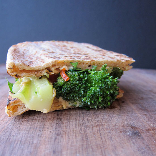 Food & Wine: Broccoli Sandwich with a Bright, Crisp White