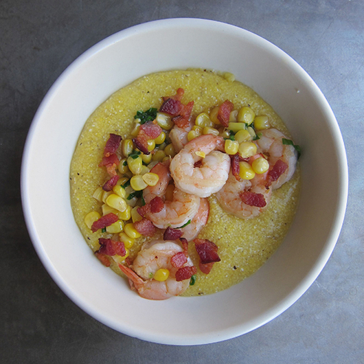 Food & Wine: Healthy Shrimp and Grits