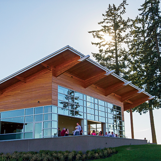 Food & Wine: Stoller's super-sustainable new winery is powered by 236 solar panels on the roof.