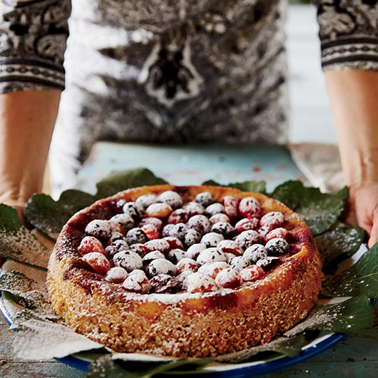 Food & Wine: Almond Cake with Mixed Berries