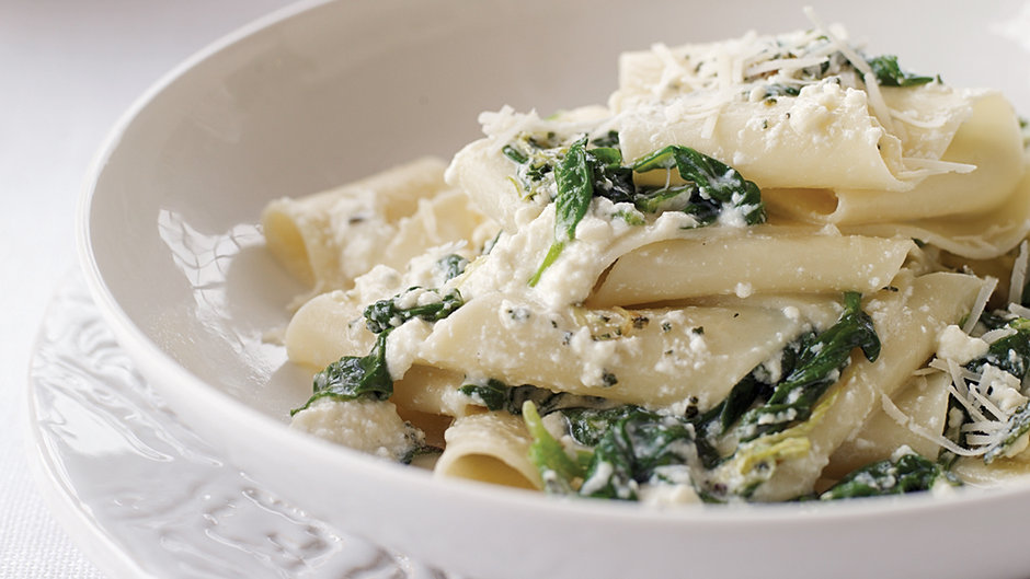 Spinach and Ricotta Pappardelle