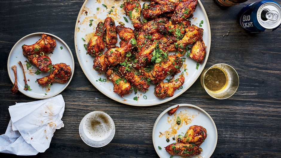 Gourmet Menu Ideas For Dinner Party Part - 19: Sticky Baked Chicken Wings