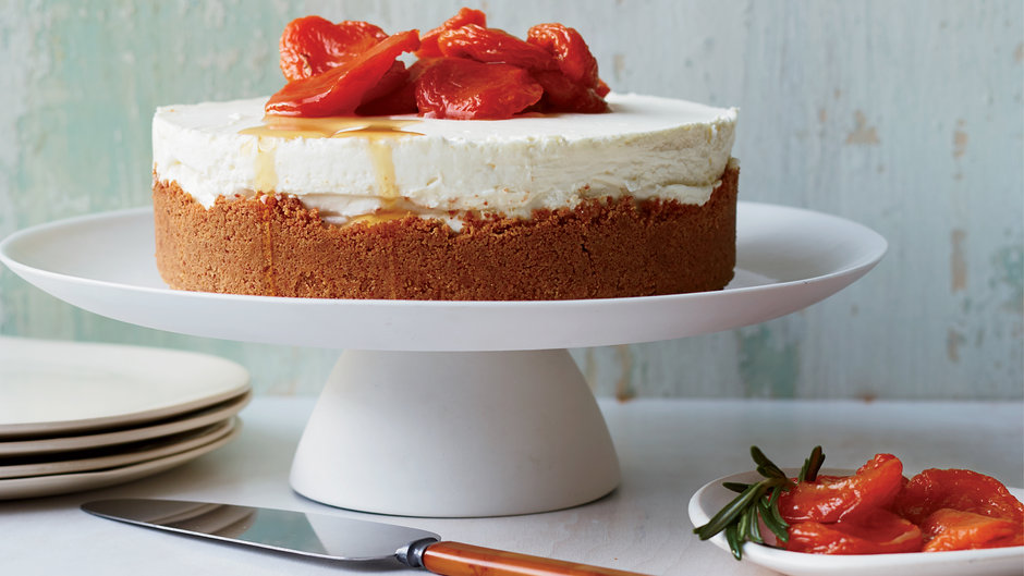 Triple-Cheese Cheesecake with Amaretti Crust