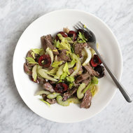 Food & Wine: Sirloin, Celery and Cherry Salad