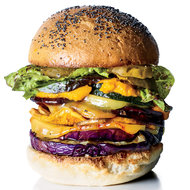 Food & Wine: Roasted Veggie Burgers with Carrot Ketchup