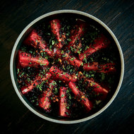 Food & Wine: Tomatoes with Bagna Cauda and Chinese Sausage
