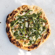 Food & Wine: Grilled Asparagus Pizzas with Gremolata