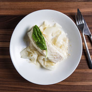 Food & Wine: Halibut with Beurre Blanc 