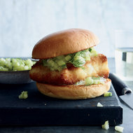 Food & Wine: Crispy Grouper Sandwiches with Green Tomato–Cucumber Relish