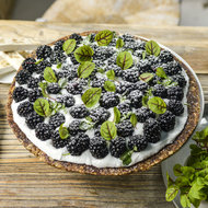 Food & Wine: Raw Berry Tart with Coconut Cream
