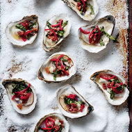 Food & Wine: Grilled Oysters with Bacon Vinaigrette