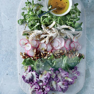 Food & Wine: Almond-Poached Chicken Salad