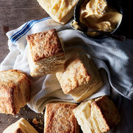 Food & Wine: Buttermilk Biscuits with Salty Sorghum Butter